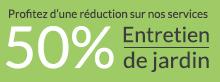 Profitez d'une réduction de 50% sur l'entretien de jardin grâce à Paysages et Cadres de vie, paysagiste à Oberhergheim (proche de Colmar)